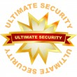 Ultimate security. Vector label. — Stock Vector