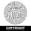 COPYRIGHT. Globe with different association terms. — Stock Vector #7164600