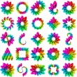 Rainbow design elements. Vector set. — Stock Vector