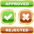 Approved and rejected buttons. — Stock Vector #7165574
