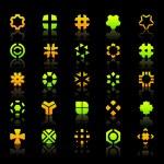 collectie van verschillende grafische elementen voor ontwerp — Stockvector  #7166145