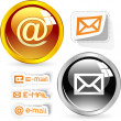 E-mail icon set for web. - Vektorgrafik