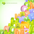 Abstract vector background with letters. - Vektorgrafik