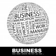 Cтоковый вектор: BUSINESS. Globe with different association terms.
