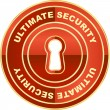 Ultimate security label. — Stock Vector