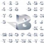 Vector alphabet for design. Metal set. — Stock Vector #7166564
