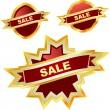 Vector collection of sale labels — Stock Vector #7166638