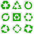 Recycle symbol. Vector set. - Stockvektor