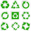 Recycle symbol. Vector set. - Stok Vektör