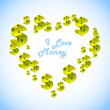I love money.  — Stock Vector