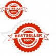 Vector de stock : Bestseller emblem. Vector illustration.