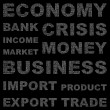 ECONOMY. Word collage on black background. — Vector de stock