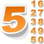 Numbers. — Stock Vector #7168779