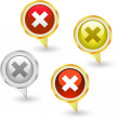 Rejected vector buttons. — Stock Vector #7169015