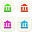 Bank icon set for web. - Stockvektor