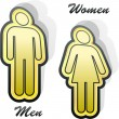 Men and women icons. - Stockvektor