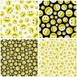 Seamless pattern with smile face. - Image vectorielle