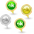 Ok icon. Vector beautiful icon set. — Stock Vector