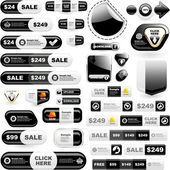 Vector grote verzameling van verkoop elementen. — Stockvector