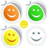Smiley face happy. Vector set. — Stock Vector