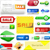Vector great collection of sale banners and buttons. — Stock Vector