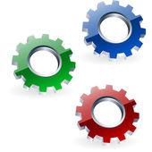 Gear icon set. — Stock Vector
