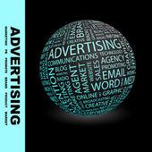 Publicidade. globo com termos de associação. — Vetorial Stock