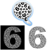 Six. Number signs. — Stock Vector
