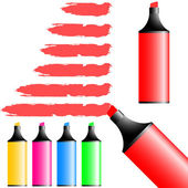 Highlighter pens. — Stock Vector