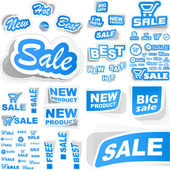 Vector set of sale design elements isolated on white background. — Stock Vector