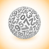 Globe with number mix. — Stock Vector