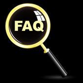 FAQ. Vector icon for design. — Stock Vector