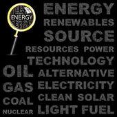 Energi. word association. — Stockvektor