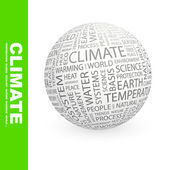 CLIMATE. Globe with different association terms. — Stock Vector