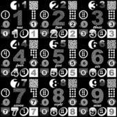 Number set. Vector great collection. — Stock Vector