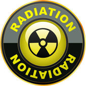 Radioactive icon. — Vector de stock