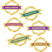 Vector guarantee label set. Great collection. — Stock Vector