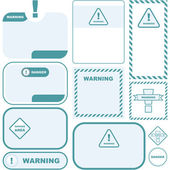 Warning vector label. — Stock Vector