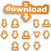 Download. Vector sticker set for design. — Stock Vector