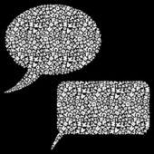 Vector speech bubble. — Stock Vector