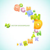 Abstract vector background with letters. — Stock Vector