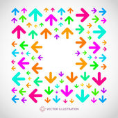 Abstract background with arrow signs. Vector illustration. — Stock Vector