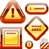Etykieta ostrzegawcza wektor. — Wektor stockowy