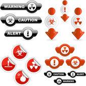 Warning signs. — Stock Vector