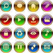 Vector set di icone bellissime per il web. — Vettoriale Stock