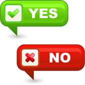 Yes and No button. — Stock Vector