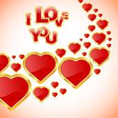 Love message. — Stock Vector