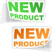 New product. Vector set of sale design elements. — Stock Vector