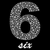SIX. Vector illustration. — Stock Vector