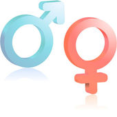 Male and female symbol. — Stock Vector